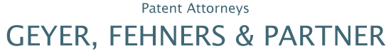 Patent Attorneys Geyer, Fehners & Partner